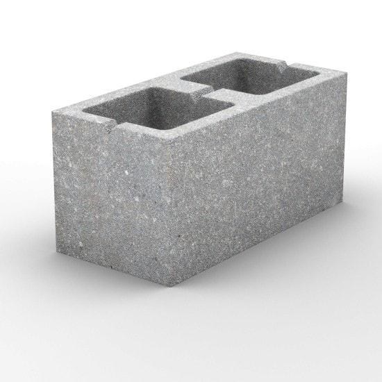 2-х пустотный пескоцементный стеновой блок 390х190х188