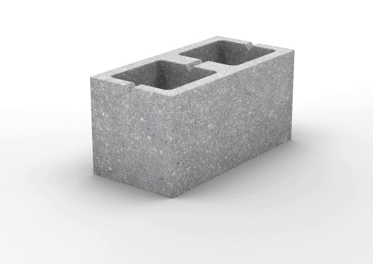 2-х пустотный керамзитобетонный стеновой блок 390х190х188