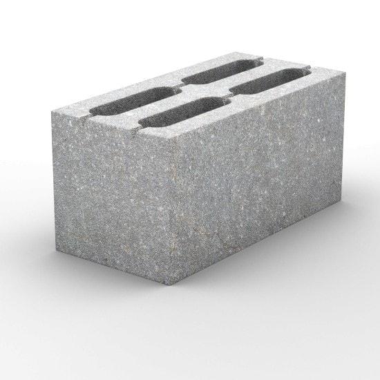 4-х пустотный пескоцементный стеновой блок 390х190х188