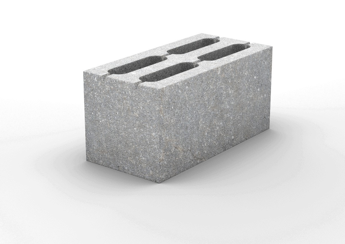 4-х пустотный керамзитобетонный стеновой блок  390х190х188