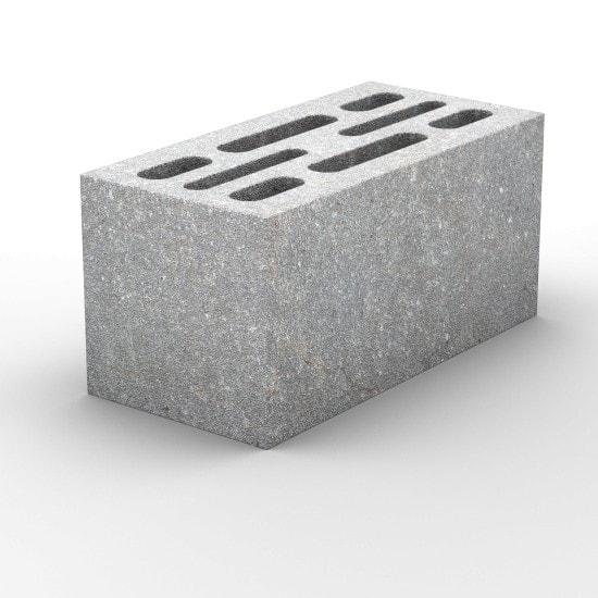 8-щелевой керамзитобетонный стеновой блок 390х190х188