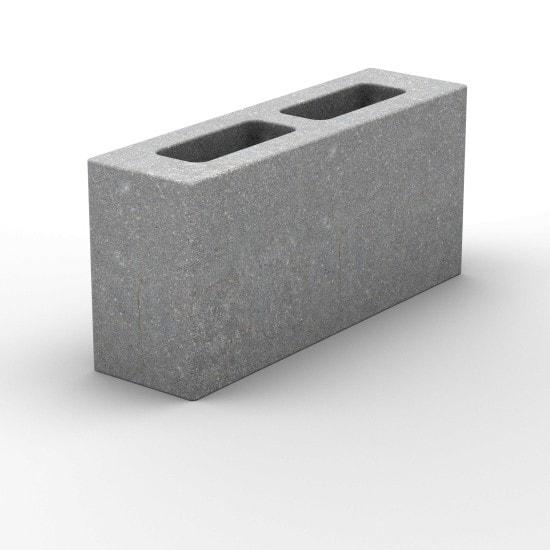 Пустотелый керамзитобетонный перегородочный блок 390х90х188