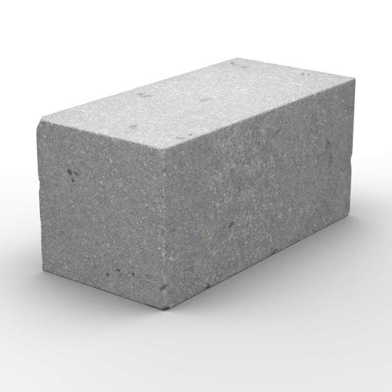 Керамзитобетонный полнотелый блок стеновой 390х190х188